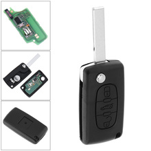 433MHz 3 Buttons Keyless Uncut Flip Remote Key Fob with ID46 Chip and HU83 Blade CE0536 for Citroen C3 C4 C5 Models 433mhz 2 buttons keyless uncut flip remote key fob with id46 chip for citroen saxo picasso xsara berlingo sx9 d25 new listing