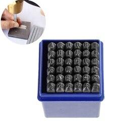 """4Mm ze stali węglowej z brązu numer """"0 9"""" """"i"""" alfabet """"A Z"""" prostokąt cios narzędzia do tłoczenia metali 58Mm X 6 Mm  1 zestaw w Zestawy narzędzi ręcznych od Narzędzia na"""