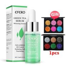 15ml EFERO Green Tea Shrink Pores Moisturizing Face Serum Whitening Skin Care Plant Essence Anti Aging Wrinkle Cream