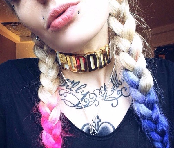 Harley Quinn Choker Suicide Squad Neck Collar Puddin Necklace Cosplay Gold