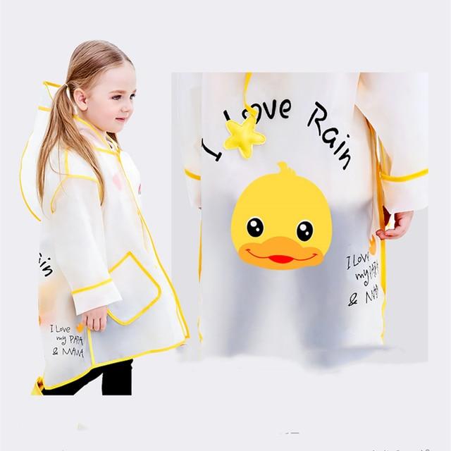 Manteau de pluie imperméable pour enfants | Style Panda, vêtements de pluie pour fille et garçon, EVA, manteaux transparents de mode, sacs décole