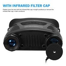 IP65 водостойкий бинокулярный прибор ночного видения 2x Цифровой Зум ИК ночного видения телескоп оптика для охоты