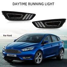 LED DRL for Ford Focus 2015 2016 2017 2018 headlight fog lights headlights fog light daytime running lights fog lamps cover
