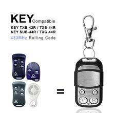 Rolling-Code-Replacement Garage-Door TXB-44R Remote-Control 433mhz KEY