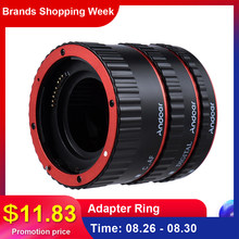Andoer Colorful Metal TTL Auto Focus AF Macro Extension Tube Ring for Canon EOS EF EF-S 60D 7D 5D II 550D Red(China)