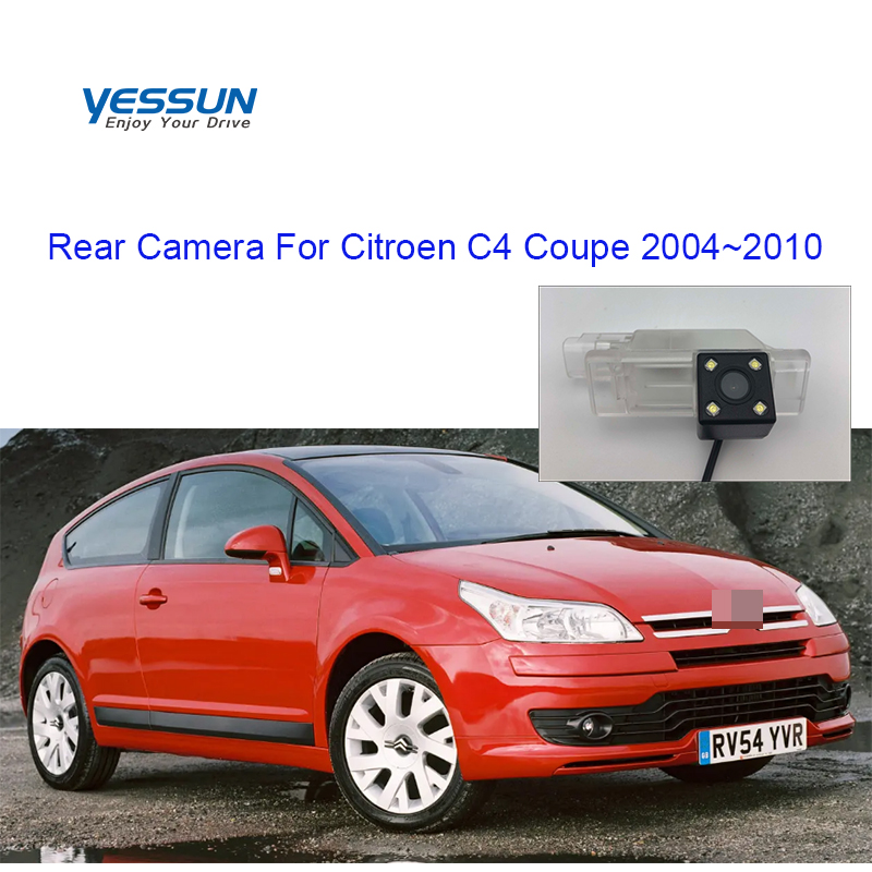Yessun License Plate Camera  For Citroen C4 Coupe 2004~2010  Car Rear View Camera Parking Assistance