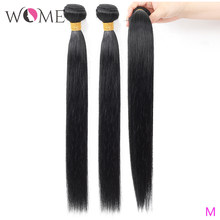 WOME Peruvian Straight Hair Bundles Human Hair Bundles 1/3/4pcs 10-26 Inches Natural Color Non-remy Hair Weave Extensions(China)