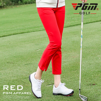 PGM Golf Pants Woman Girls Clothes Spring Autumn High Elastic Soft Trousers For Golfer Play Golf Ball Lady Clothing XS XXXL