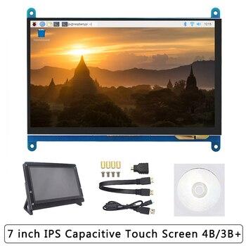 7 polegada raspberry pi 4b/3b +/3b tela de toque 16:9 1024*600 800*480 lcd hdmi display   suporte também para computador portátil nvidia jetson nano