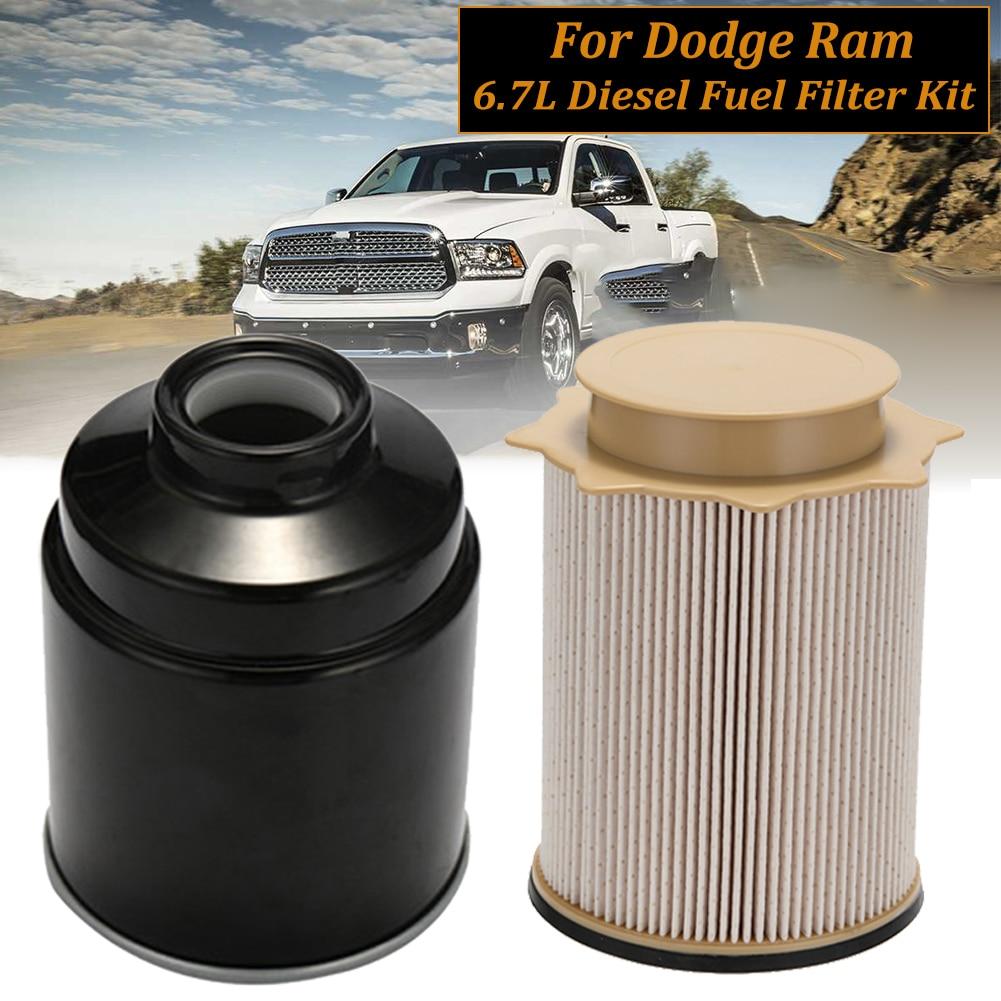 Diesel Fuel Filter Kit For 2013-2017 Dodge Ram 6.7L Cummins 2500 3500 4500 5500