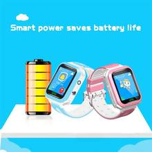For Children Student Kids Touch Screen Waterproof One-key GPS Camera Phone Smart Watch(China)