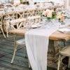 Custom wedding decoration blank cotton table runner 60 x300cm dinner party table cloth 22inch x10ft