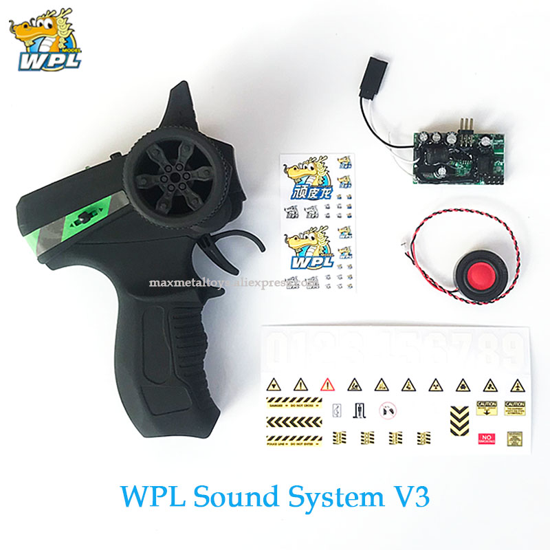 WPL Upgrade Control Control Sound System V3 Transmitter DIY Receiver Board Horn Spare Part Accessories Replacement For WPL Truck