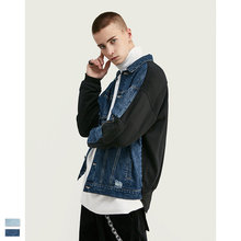 Cooo Coll 19SS Men Women Denim Jacket Hip Hop Streetwear Hole military skateboard Long Sleeve jogger Tops Casual Harajuku Coats