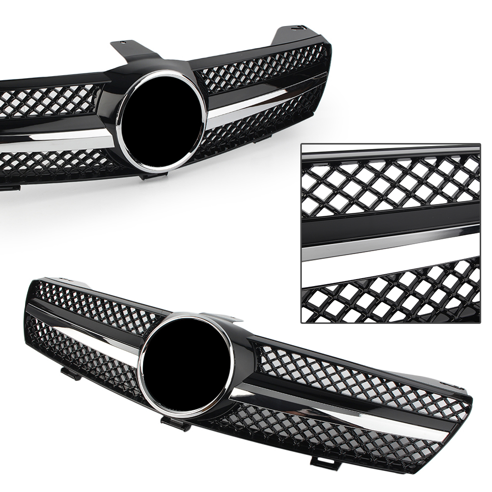 <font><b>W219</b></font> Car Front Bumper Grille Chrome Black <font><b>Grill</b></font> For Mercedes Benz CLS500 SLS600 CLS Class 2004 2005 2006 2007 ABS Plastic image