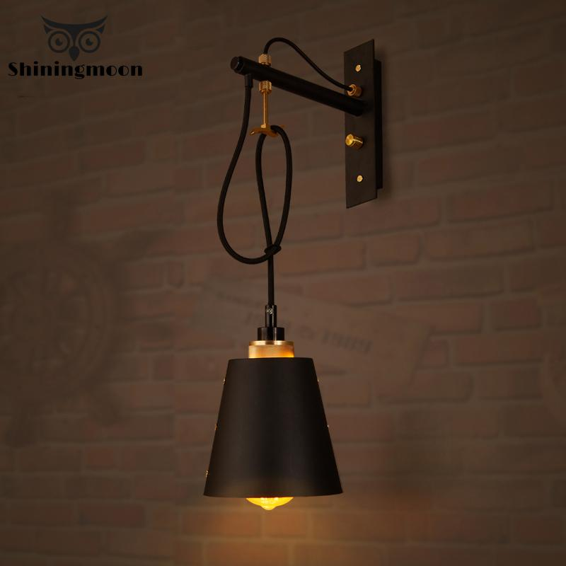 American Industrial Wall Lamps Holiday Decorations For Home Light Fixtures Stairs Wall Candlle Lights Outdoor Wall Sconce Lamp Buy At The Price Of 119 92 In Aliexpress Com Imall Com