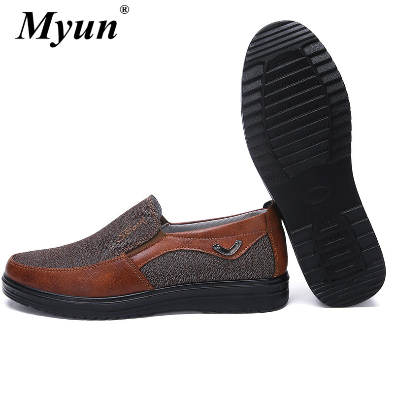 Shoes Flat-Sneakers Casual Footwear-Size Breathable Mesh Slip-On Upper-Man Fashion High-Quality