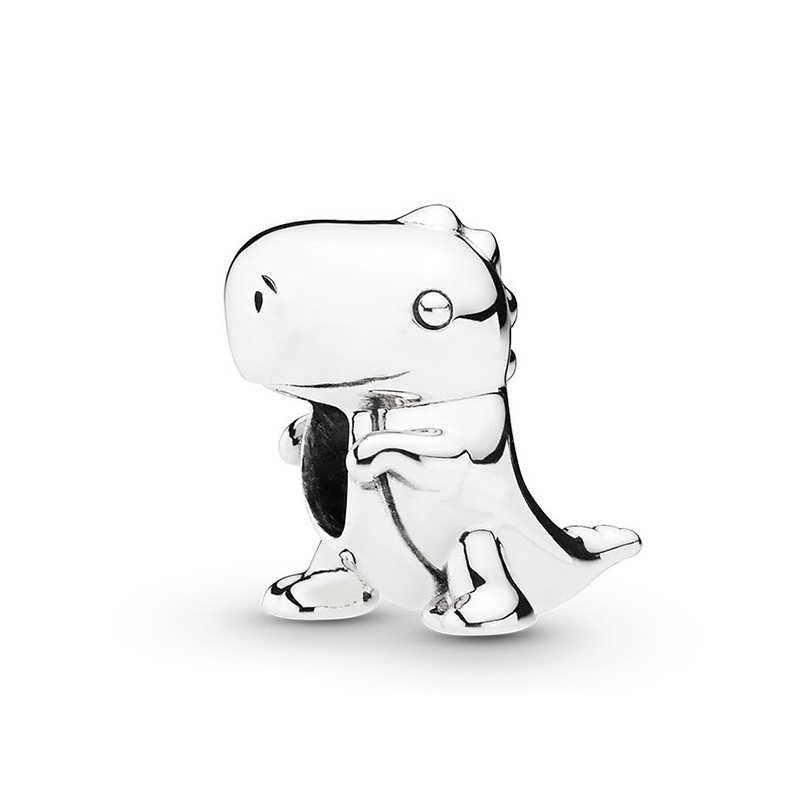 2 قطعة/الوحدة جميل ديناصور القنفذ لعبة قصة ميكي السحر الخرز صالح باندورا أساور قلادة للنساء DIY بها بنفسك مجوهرات اكسسوارات