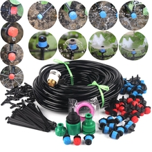50m~6m Drip Irrigation System DIY Garden Watering System Kit Gardening Micro Irrigation Kits 3Kinds Drippers Sprinklers