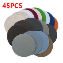 45pcs 75mm / 3Inches Wet Dry Sanding Pad Discs 400-10000 Grit Hook Loop Mixed Round Sandpaper Disk Sand Sheet