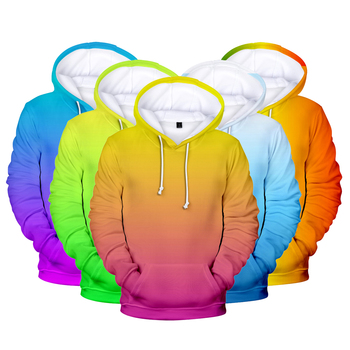 Sudadera con capucha 3D arcoíris para hombre/mujer, tienda de ropa Harajuku para personalización, sudaderas con capucha 3D