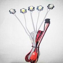 1Set Velivoli di RC 5W Lampeggiante Luminoso di Luce di Navigazione Lampade A LED di Esplosione lampeggiante 2s 3s 4s 5s 6s Controller di Ricambio per FPV
