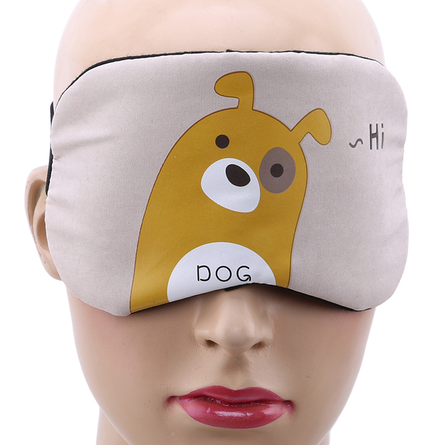 1PC New Fashion Portable Cute Sleeping Eye Mask Korean Style Soft Padded Sleep Travel Shade Cover Rest Relax Sleeping Blindfold 4