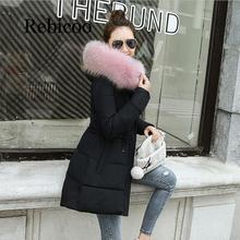 winter jacket women Thick Warm Long Down Parkas Women Jacket Coat Cotton Padded Woman Winter Female New 2019