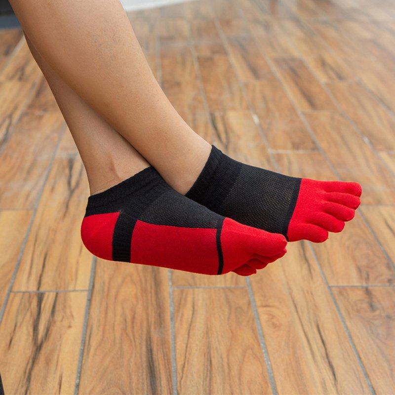 1 Pairs/Lot Cotton Toe Socks Men Boy To Protect Ankle Socks Five Finger Socks Compression Mesh Crew Boat Socks Fashion X