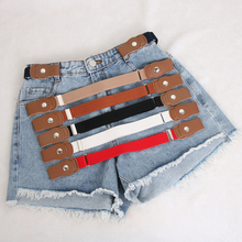 Kids Elastic Belts Buckle-Free Stretch Waist Belt Boys Girls Adjustable Heart Jeans Pants Belt Child Fashion Clothes Accessories
