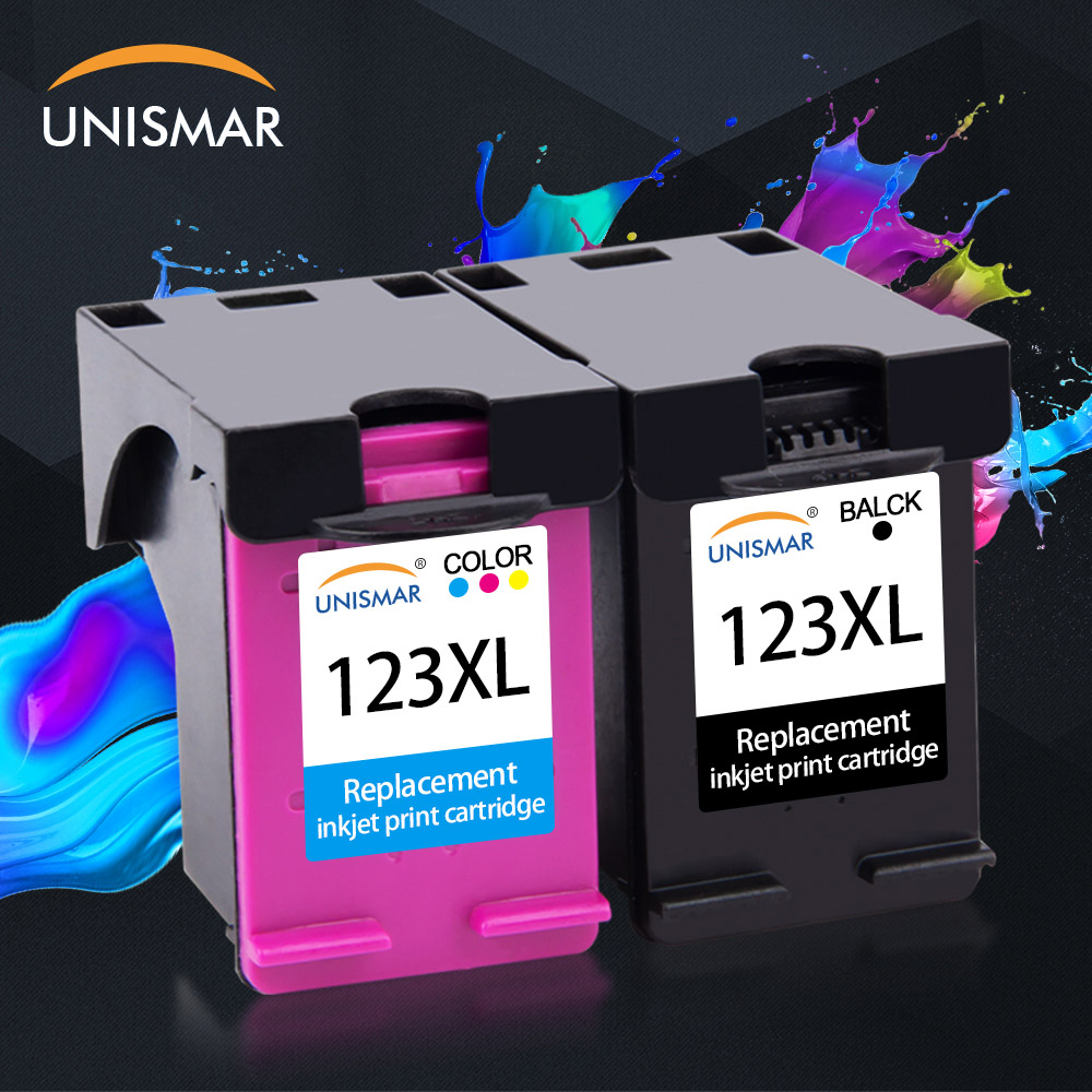 Unismar 123XL Remanufactured Ink Cartrige For HP 123 XL Deskjet 2620 1110 2130 2133 2132 2134 3630 3632 3637 3638 3830 Printer