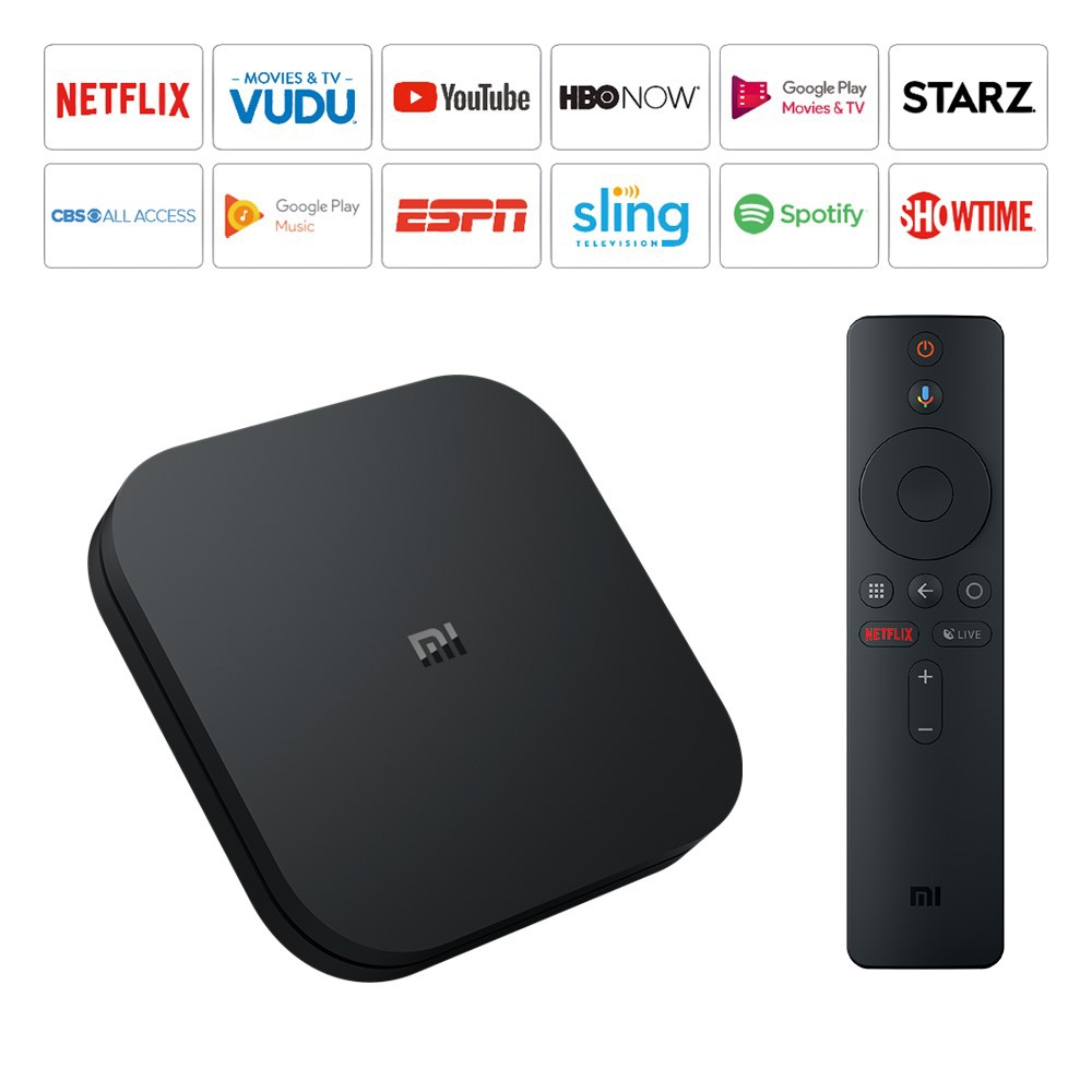 New Xiaomi Mi Box S 4K HDR Android TV  Google Assistant Remote Streaming Player