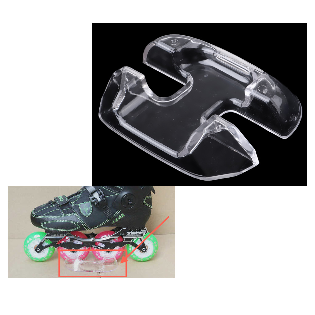 Small Strong Durable Plastic Hockey/Inline Skate Shoes Display Rack Stand - Transparent