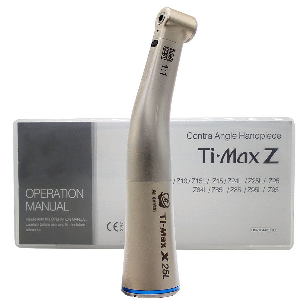 Dental Contra Angle Handpiece 1:1 Fiber Optic Low Speed Ti-Max X25L Fit NSK
