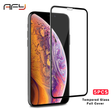 AFY 5PCS for iPhone10 Glass Tempered 5 5s 6 6s Plus Film iPhone 7 8 Protector X XR XS MAX