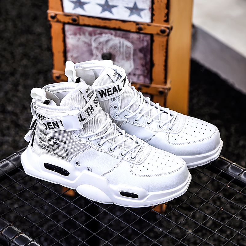 New Fashion Men Sneakers High Top Running Shoes for Men Black White Outdoors Walking Sports Shoes Comfortable Plus Size 38-47