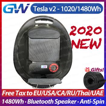 2020 Gotway Tesla v2 najnowsza aktualizacja Anti Spin głośnik Bluetooth 1020Wh 1480Wh 2000W unicycle jedno koło elektryczne monowheel tanie i dobre opinie 50 km h Aluminium stop 500 w 60 km Bateria litowa 16inch