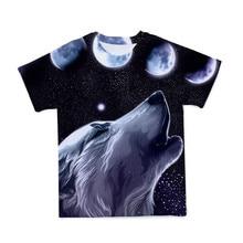 2021 Summer NewFunny 3d T Shirt Summer Hipster t-shirt manica corta un lupo nella neve t-shirt top manica corta
