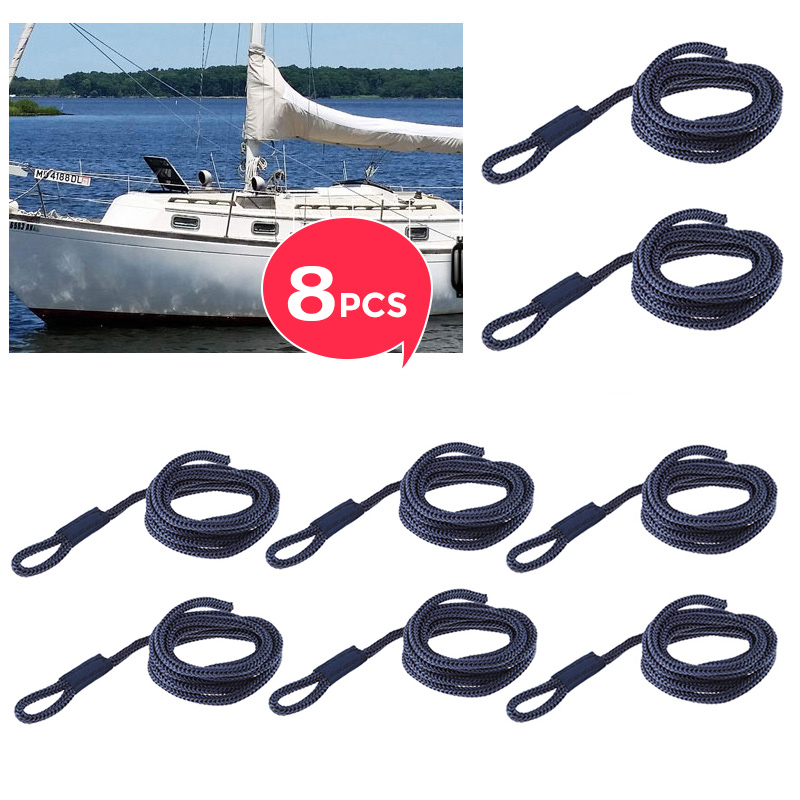 8 Pcs Boat Fender Line 0.24