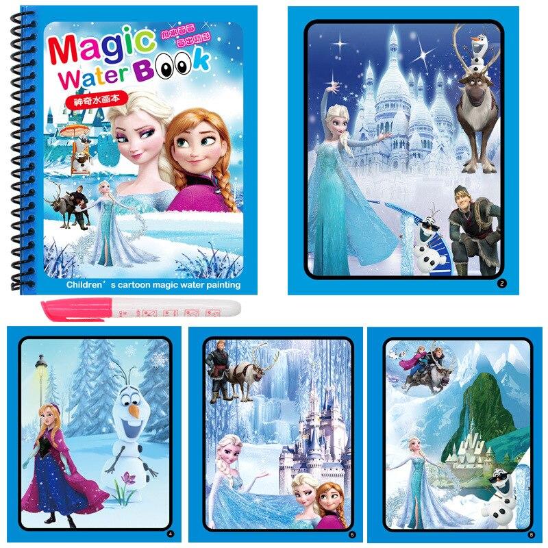 Новые продукты книжка-раскраска Магические рисунки ручка для рисования доска для рисования для детей игрушки волшебная Водная раскраска п...