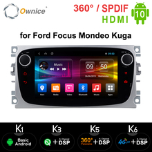 Ownice Android 10.0 Auto Dvd speler 2 Din Radio Gps Navi Voor Ford Focus Mondeo Kuga C MAX S MAX Galaxy Audio stereo Head Unit
