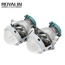 ROYALIN โลหะสำหรับ Hella 3R G5 Bi Xenon ไฟหน้าเลนส์ D2S ไฟโปรเจคเตอร์ Universal รถ D1S D2H D3S D4S หลอดไฟ Retrofit
