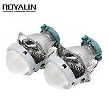 ROYALIN المعادن ل Hella 3R G5 ثنائية زينون المصابيح الأمامية عدسة D2S أضواء العارض العالمي مصباح سيارة D1S D2H D3S D4S المصابيح التحديثية