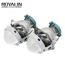 ROYALIN Metal For Hella 3R G5 Bi Xenon Headlights Lens D2S Lights Projector Universal Car Lamp D1S D2H D3S D4S Bulbs Retrofit