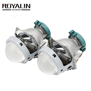 Image 1 - ROYALIN Metal For Hella 3R G5 Bi Xenon Headlights Lens D2S Lights Projector Universal Car Lamp D1S D2H D3S D4S Bulbs Retrofit