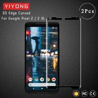 YIYONG 3D Bordo Curvo Vetro Per Google Pixel 2 XL Temperato Protezione Dello Schermo di Vetro Per Google Pixel 4 3 XL pixel 3A Pixel2 di Vetro