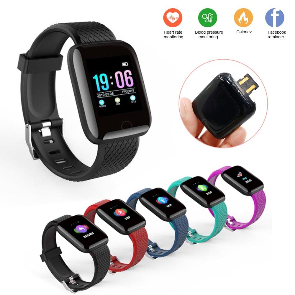 Bracelet intelligent bracelet Sport fitness Tracker bracelet moniteur de fréquence cardiaque mesure de la pression artérielle Smartband montre