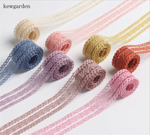 Kewgarden Stripe Hollow Ribbon 25mm 40mm 1.5 1 Handmade Tape DIY Hair Bow Needlework Accessories Craft Packing Riband 10 Yards