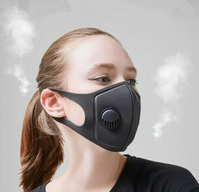 PM2.5 Anti-dust Mask With Breathing Valve Breathable Face Mouth Mask Cover Filter Reusable Washable Anti-fog Sponge Mask