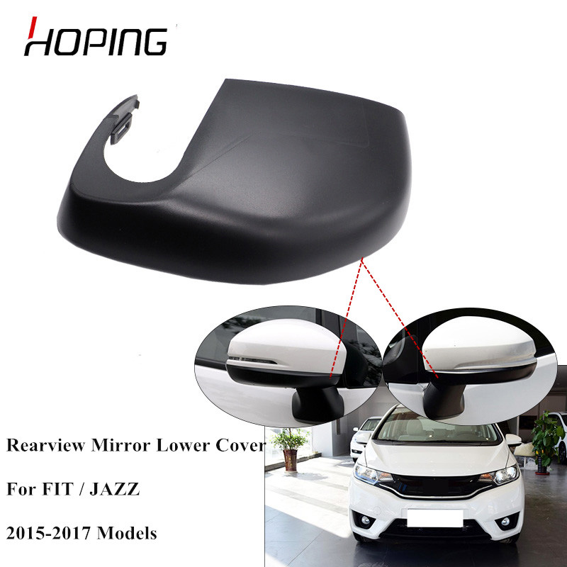 Hoping Outer Rearview Mirror Lower Cover Case For HONDA <font><b>JAZZ</b></font> FIT 2015 2016 2017 <font><b>GK5</b></font> Side Mirror Down Cover Base Color image